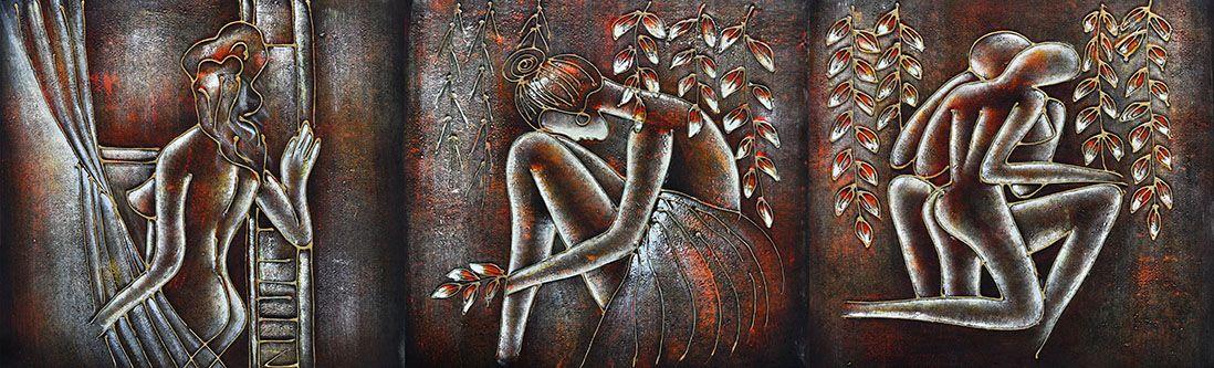 Модульная картина «Женские силуэты»