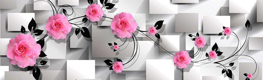 Модульная картина «Ветка роз»
