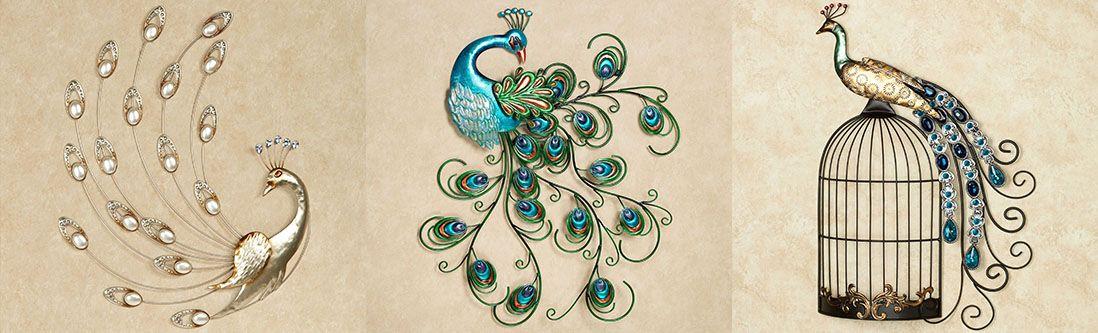 Модульная картина «Композиция с драгоценными павлинами»
