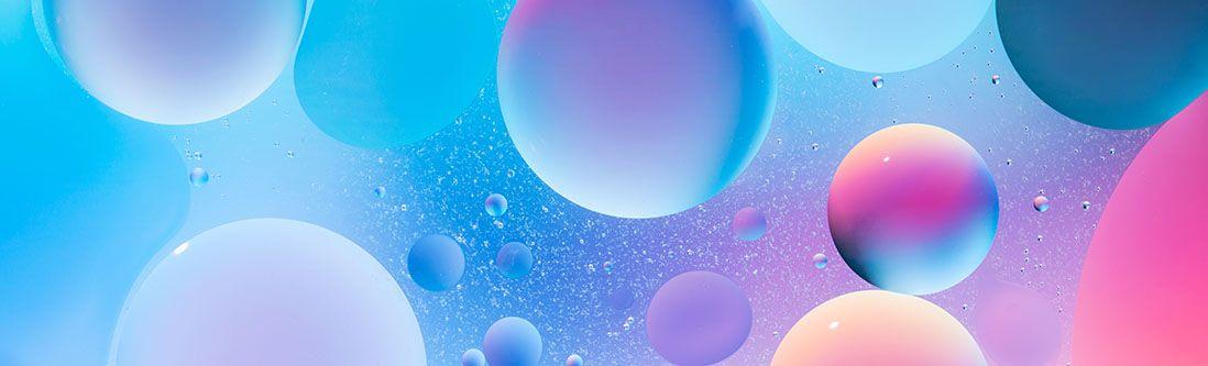 Модульная картина «Красочные сферы»
