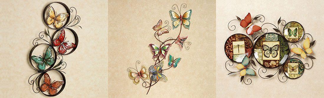 Модульная картина «Объемная композиция с бабочками»
