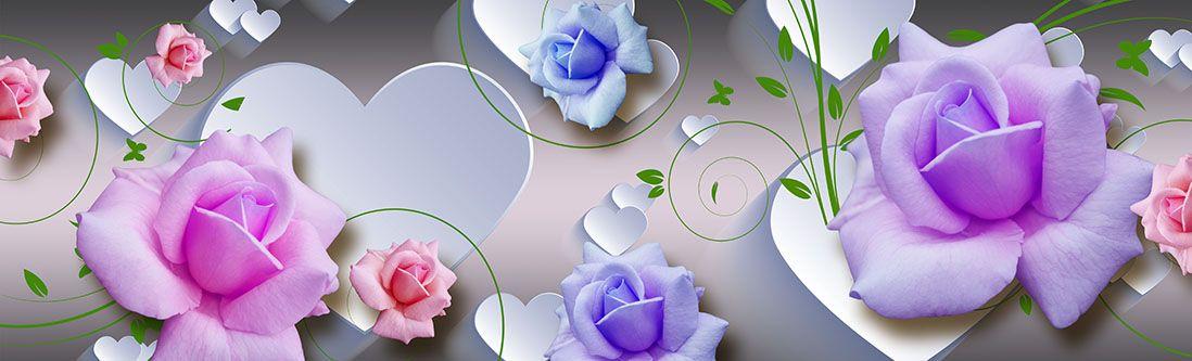 Модульная картина «Нежные розы»