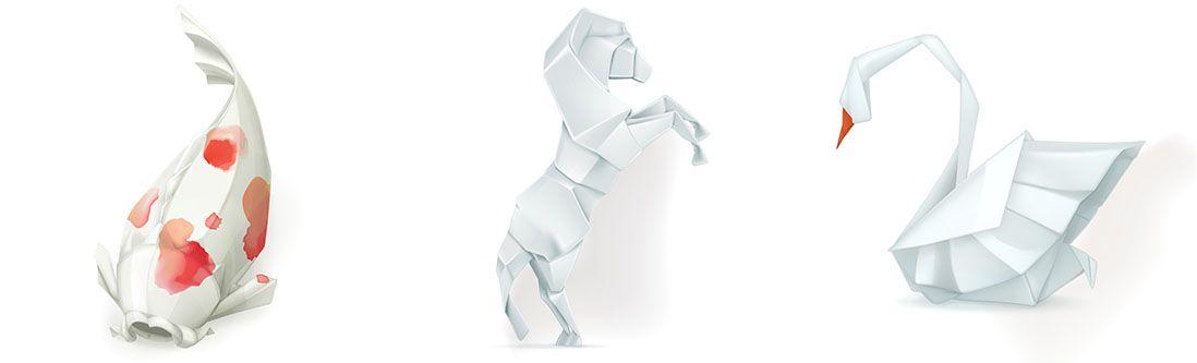 Модульная картина «Объемное оригами»