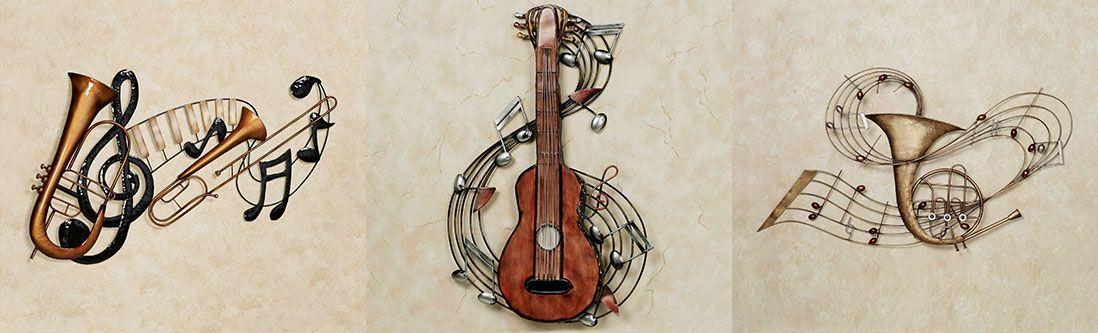 Модульная картина «Объемные музыкальные инструменты»