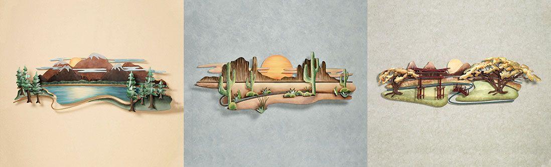 Модульная картина «Объемные пейзажи ручной работы»