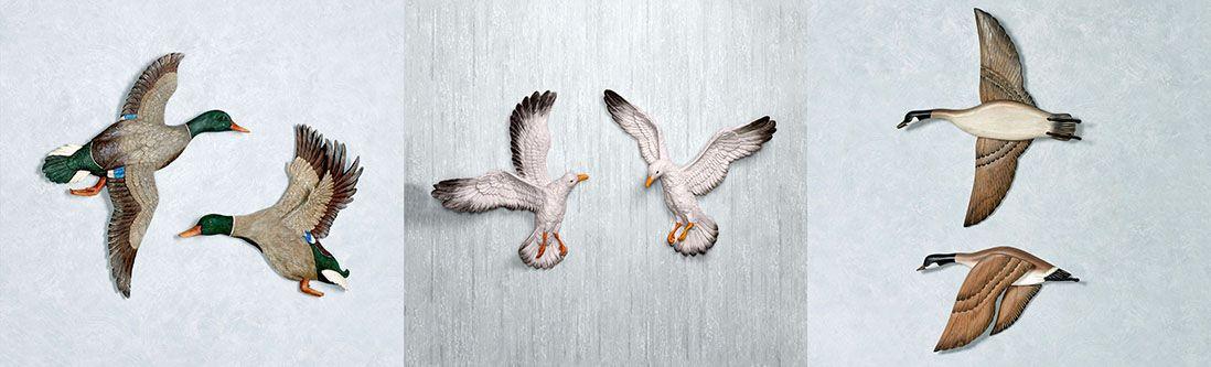 Модульная картина «Паряшие птицы»