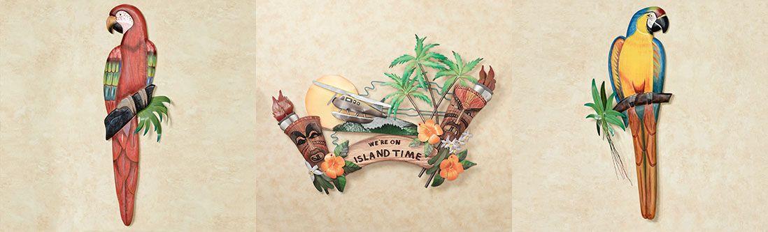 Модульная картина «Тропическая композиция»