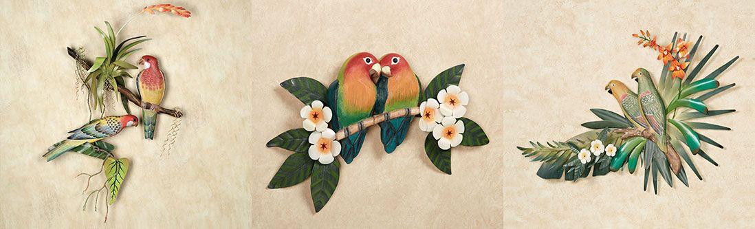 Модульная картина «Тропические птицы»