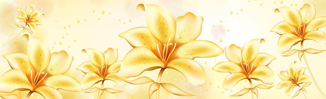 Модульная картина «Ванильные цветы»
