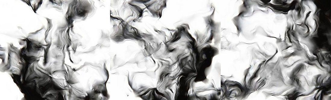 Модульная картина «Темная дымка»