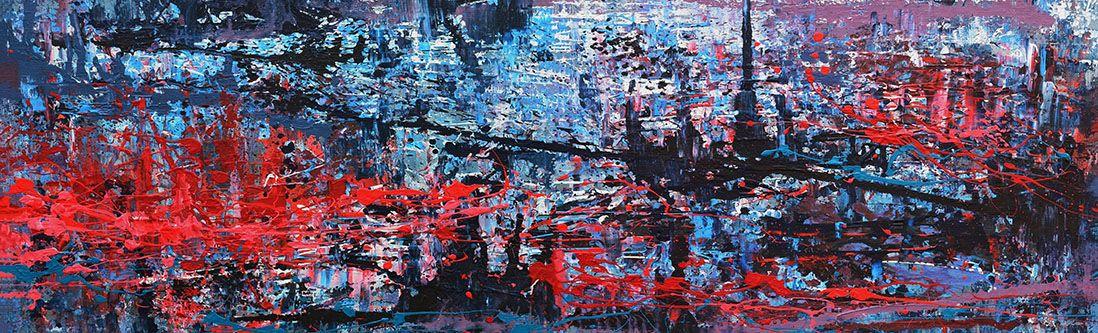 Модульная картина «Абстрактная живопись»