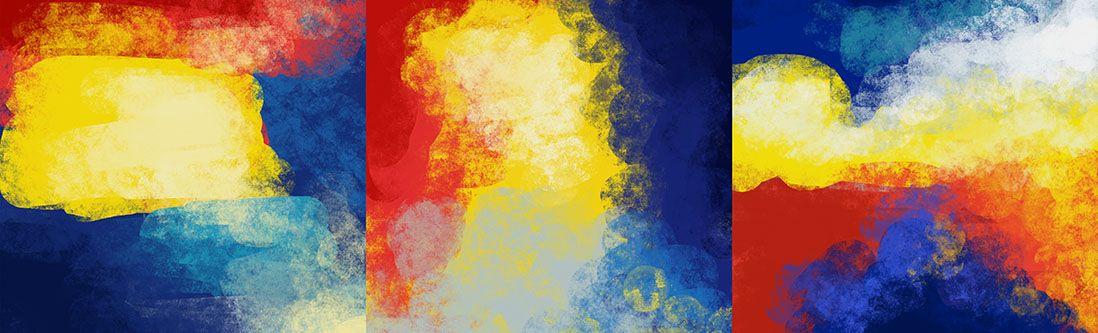 Модульная картина «Абстрактная композиция»