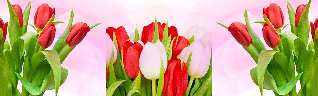 Модульная картина «Букеты тюльпанов»