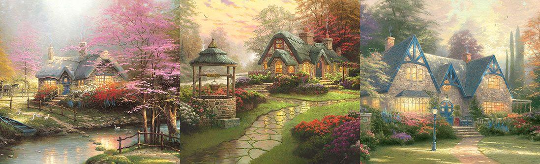 Модульная картина «Сказочные домики»