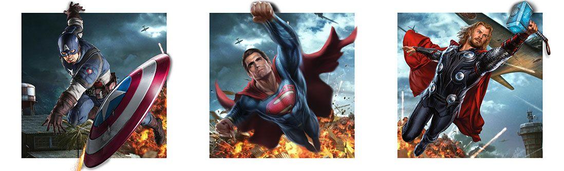 Модульная картина «Герои комиксов»