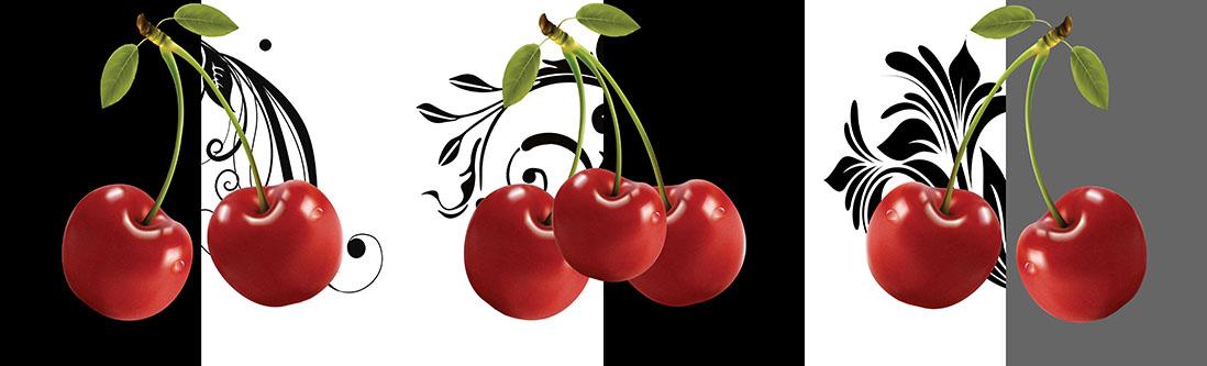 Модульная картина «Веточка вишни»