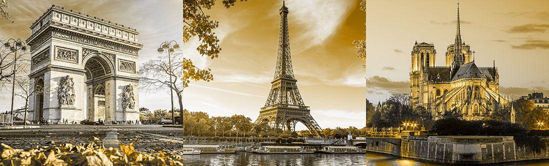 Модульная картина «Франция старинные сооружения»