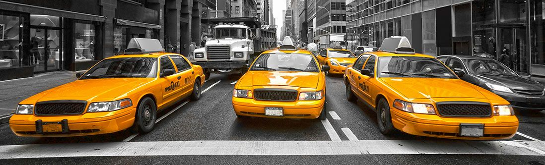 Модульная картина «Желтое такси»