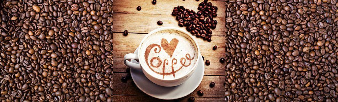 Модульная картина «Капучино и кофейные зерна»