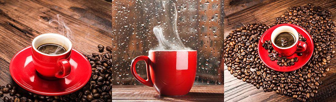 Модульная картина «Красная чашка с кофе»