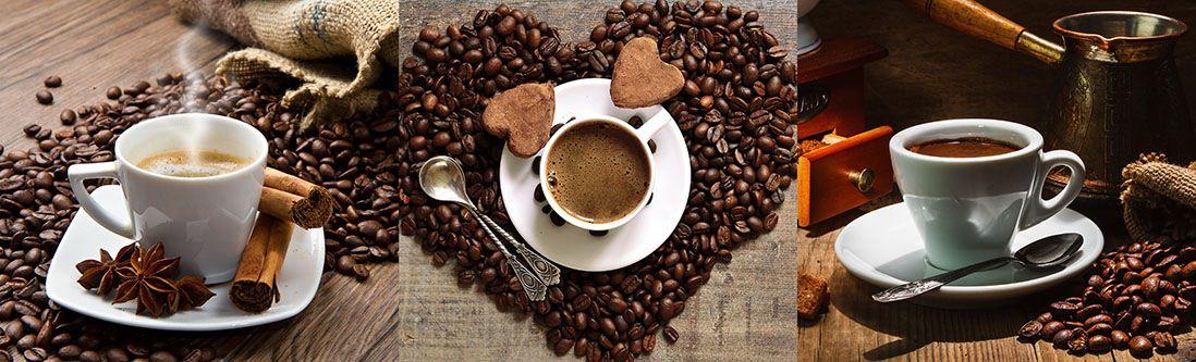 Модульная картина «Кофейная композиция»