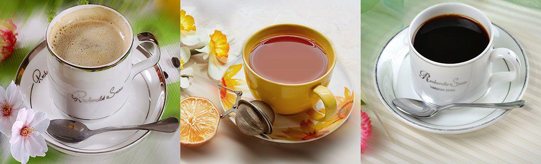 Модульная картина «Чашка кофе и полевые цветы»
