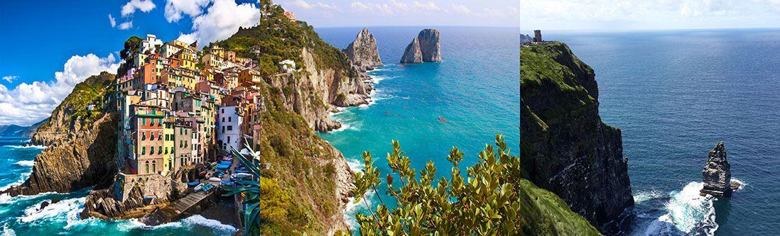 Модульная картина «Сицилийские скалы»