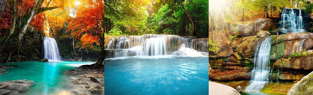 Модульная картина «Красочные водопады»