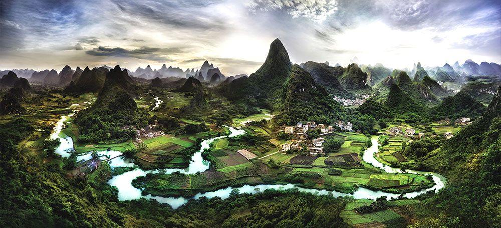 Модульная картина «Малайзийский пейзаж»