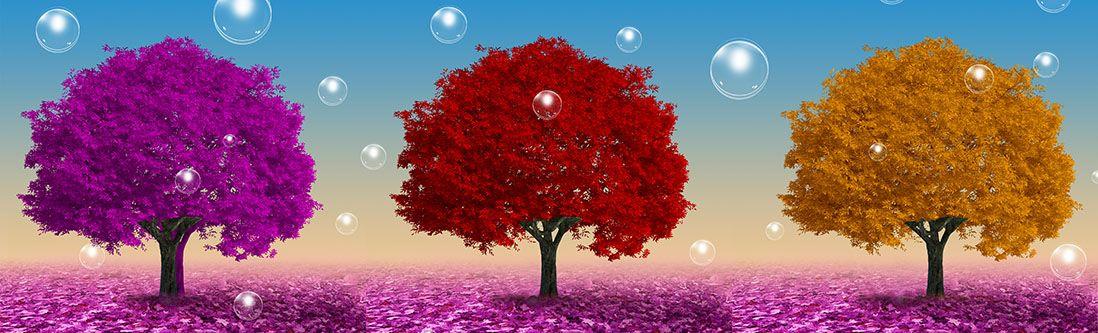 Модульная картина «Разноцветные деревья»