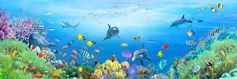 Модульная картина «Морские обитатели»
