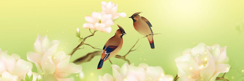 Модульная картина «Птички на веточке»