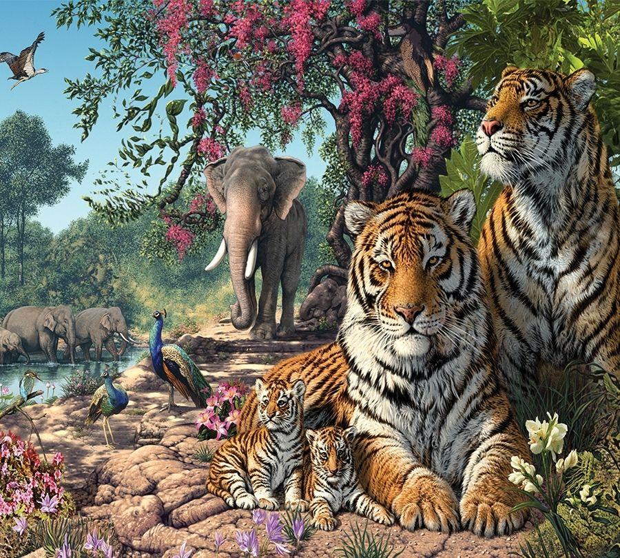 Семейный плед «Тигриное царство» вид 2