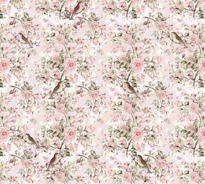 Плед «Птицы в весенних розах» вид 2