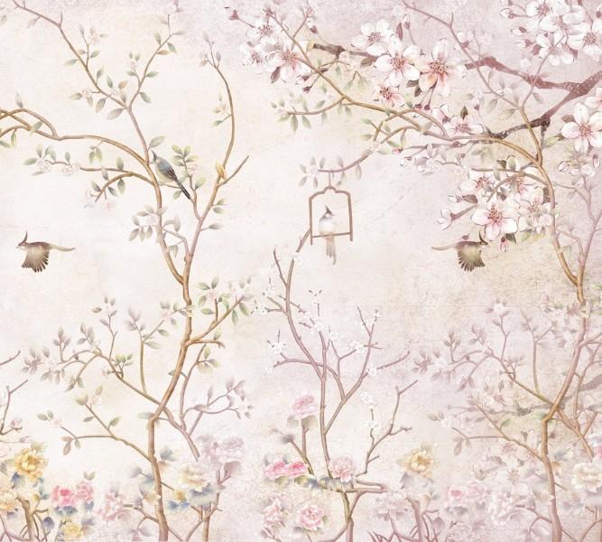 Плед велсофт «Весенний сад» вид 2