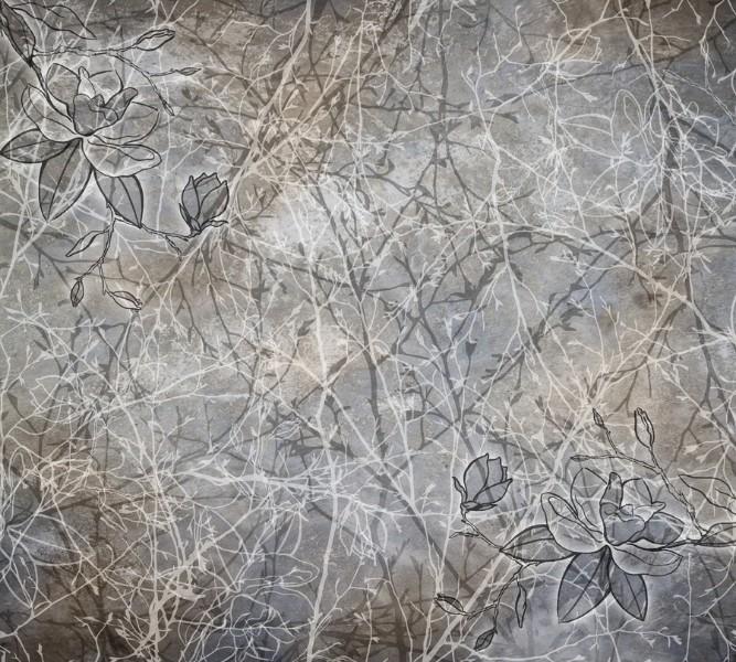 Тёплый плед «В ветвях тенистого сада» вид 2