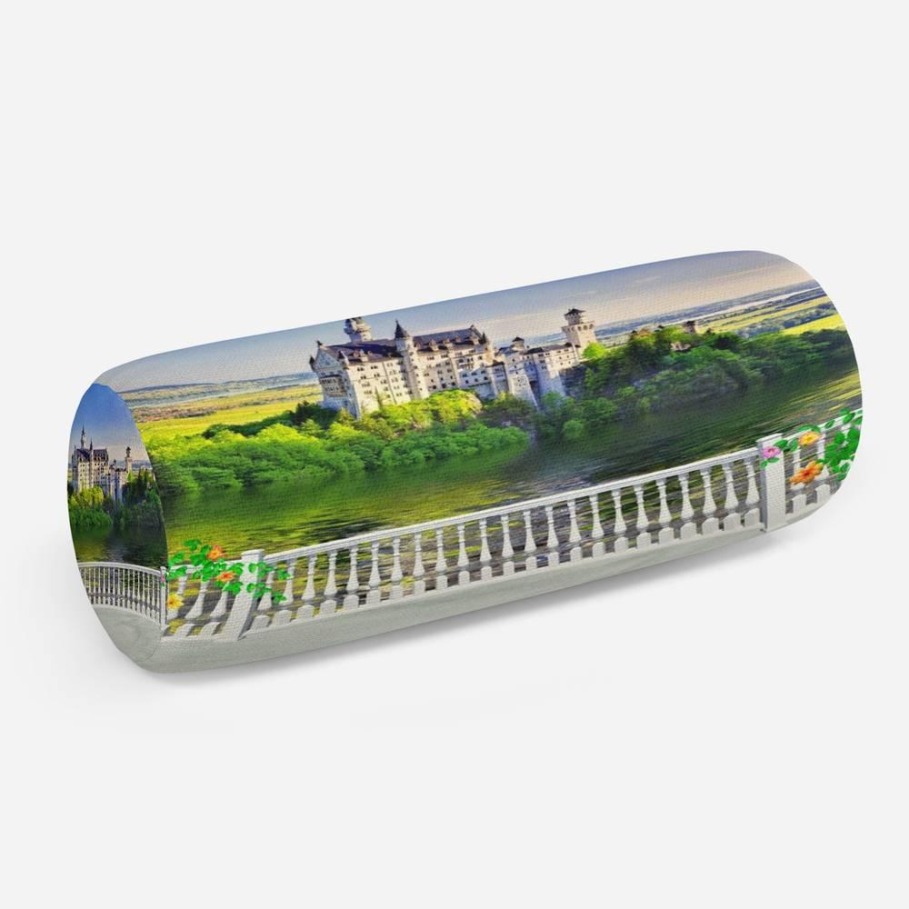 3D подушка-валик «Балкон с видом на замок»