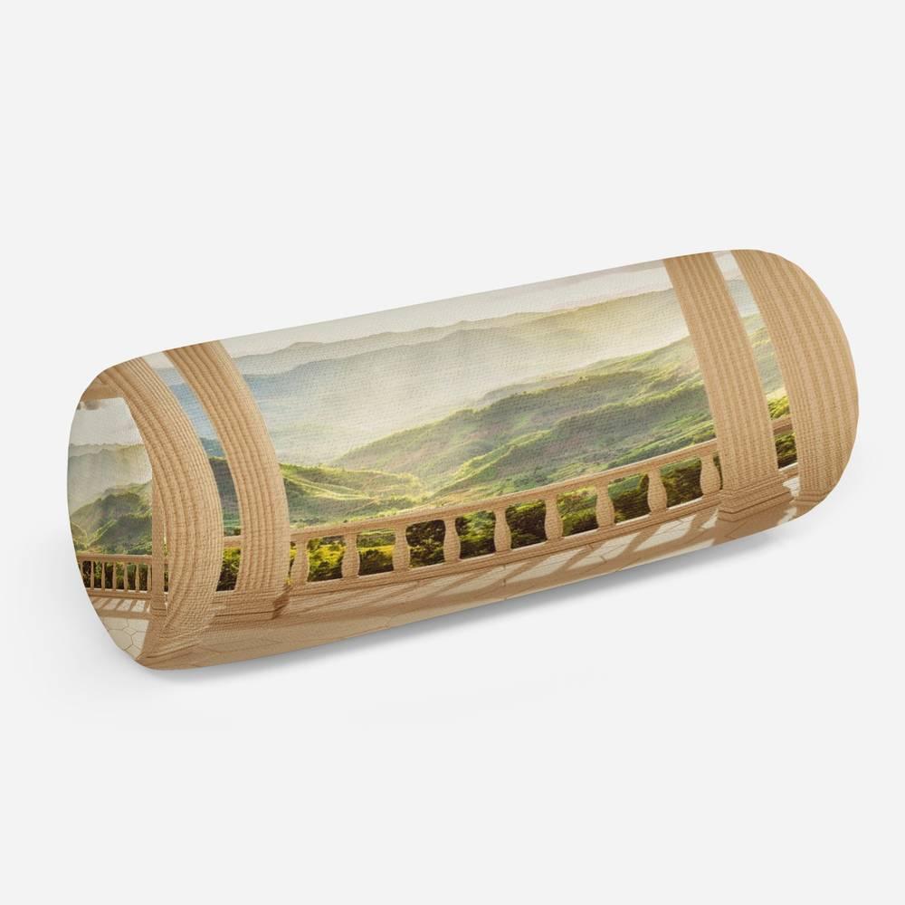 3D подушка-валик «Балкон с видом на солнечную долину»