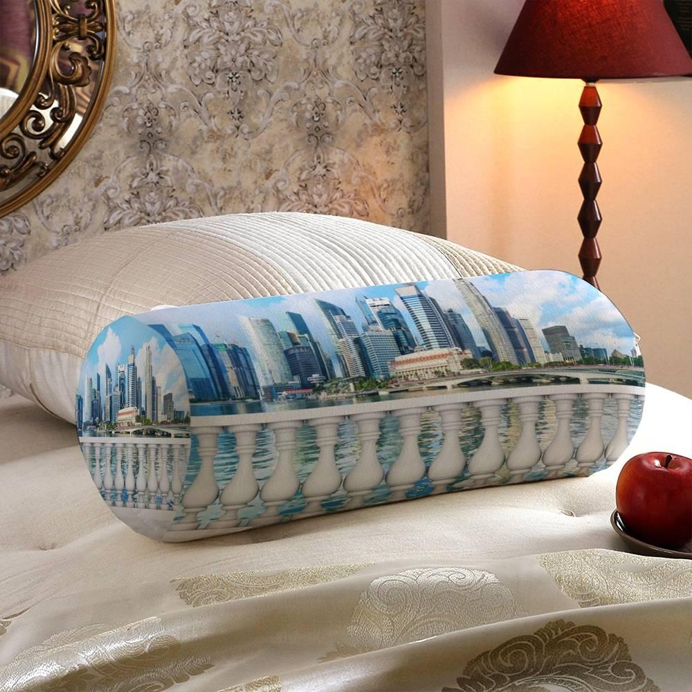 Декоративная подушка в форме валика «Набережная с видом на мегаполис» вид 5