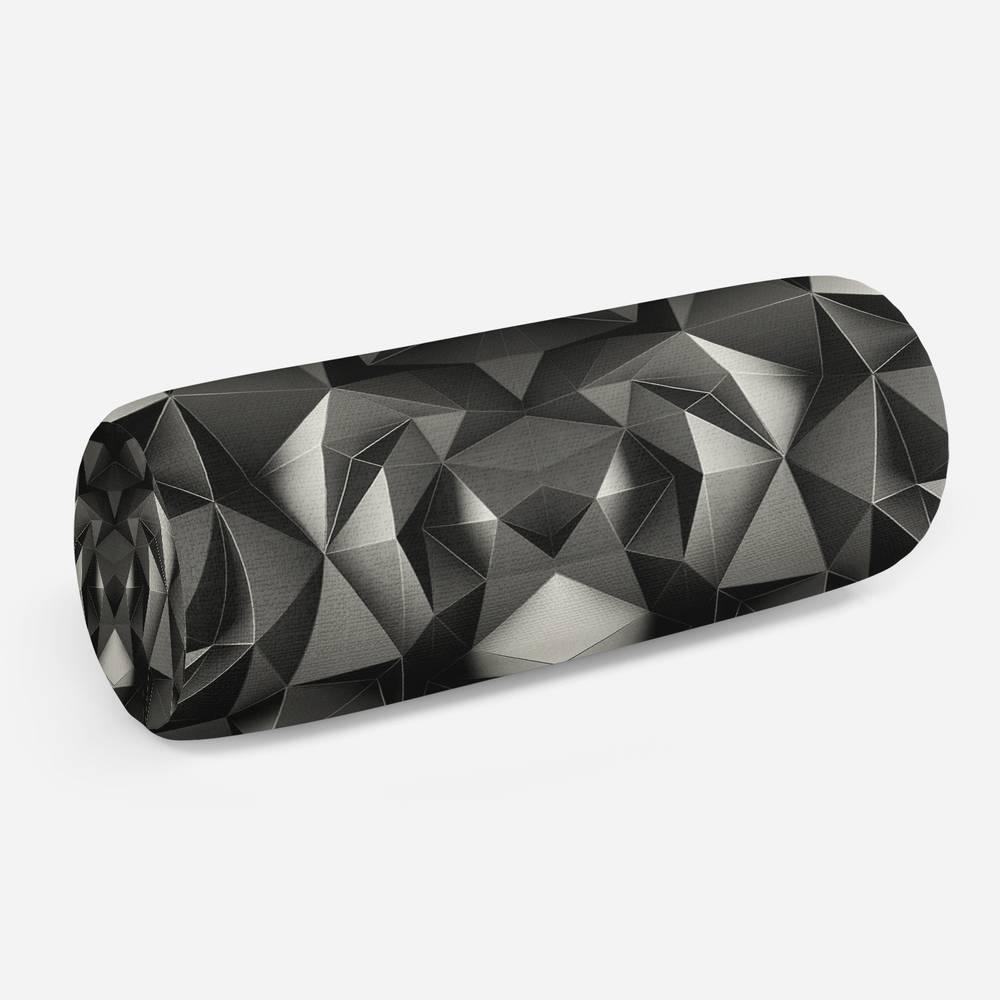 3D подушка-валик «Темные полигоны»