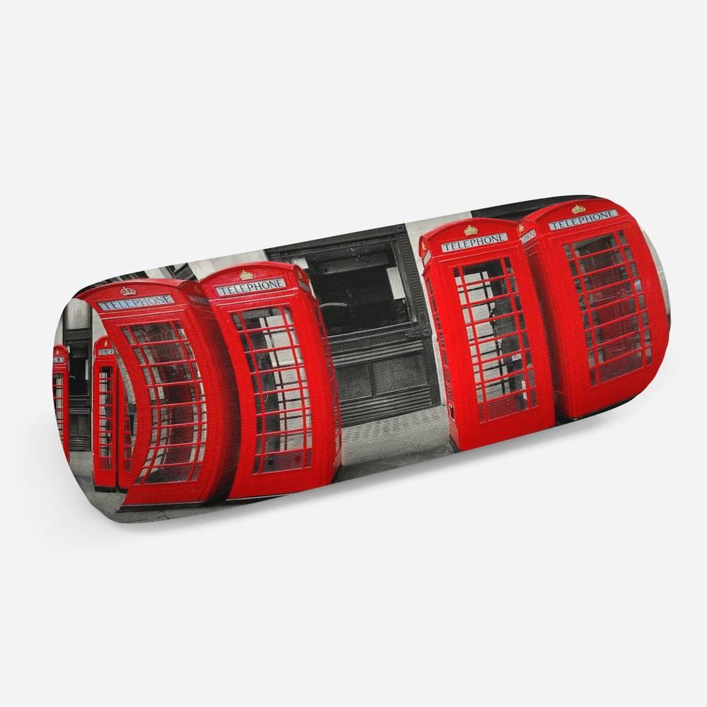 3D подушка-валик «Телефонные будки»