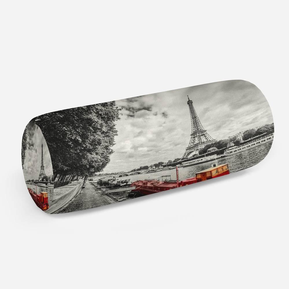 3D подушка-валик «Эйфелева башня у реки»