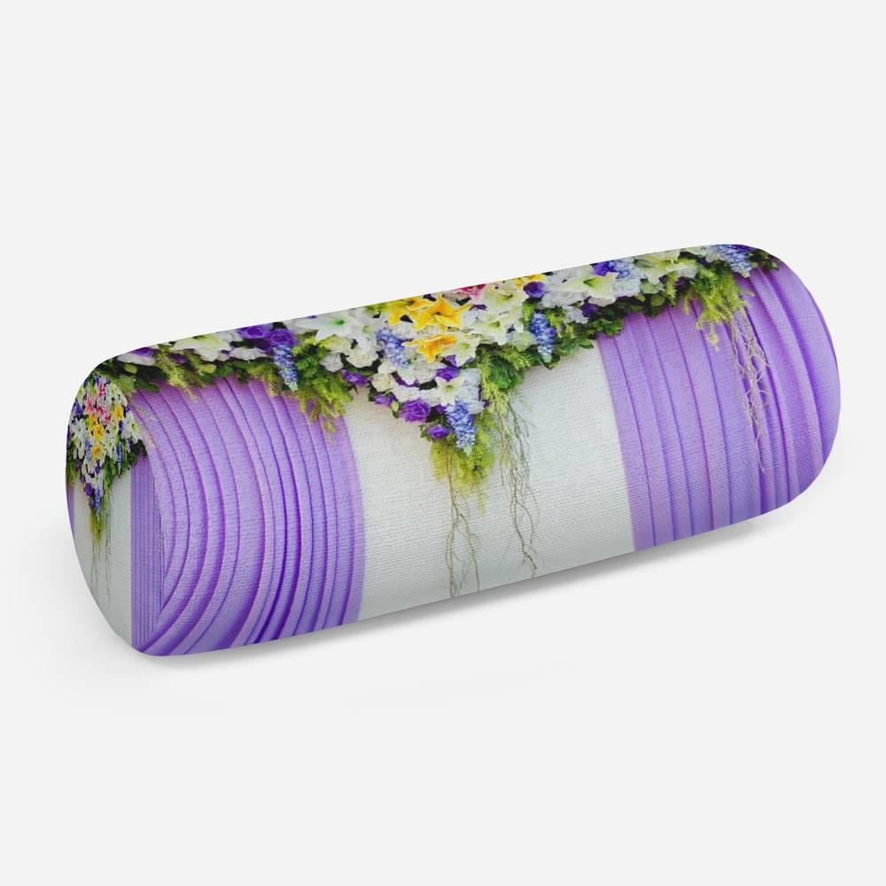 3D подушка-валик «Сиреневая вуаль»