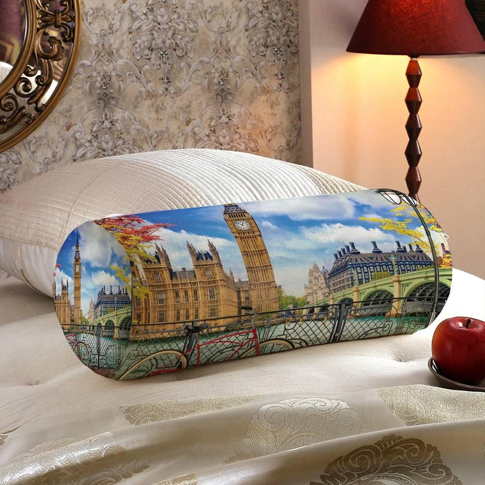 Тканевая подушка валик «Утро в Лондоне» вид 5