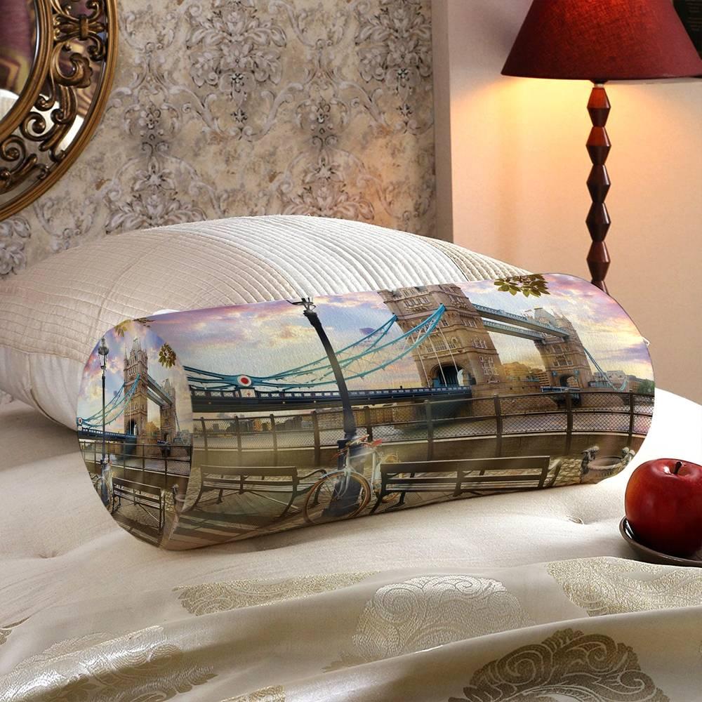 Интерьерная подушка валик «Набережная Темзы» вид 5