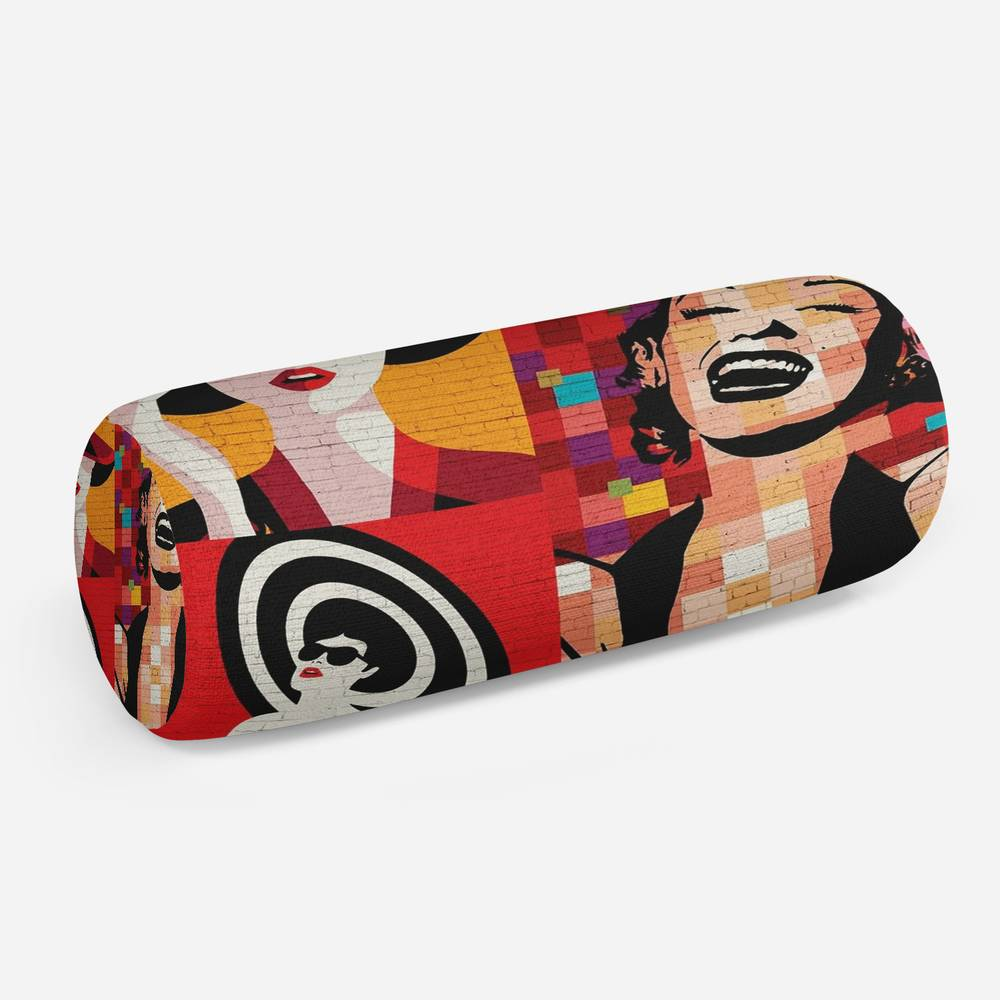 3D подушка-валик «Мэрилин поп арт»