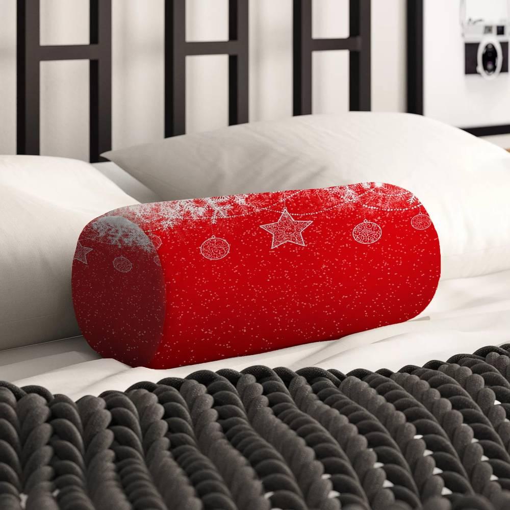 Интерьерная подушка подголовник «Рождественский узор» вид 2