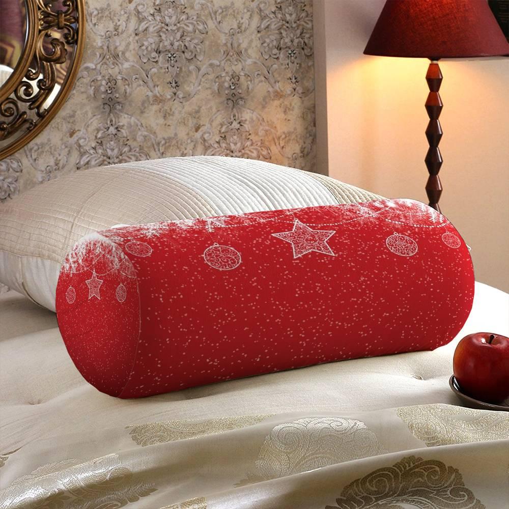 Интерьерная подушка подголовник «Рождественский узор» вид 5