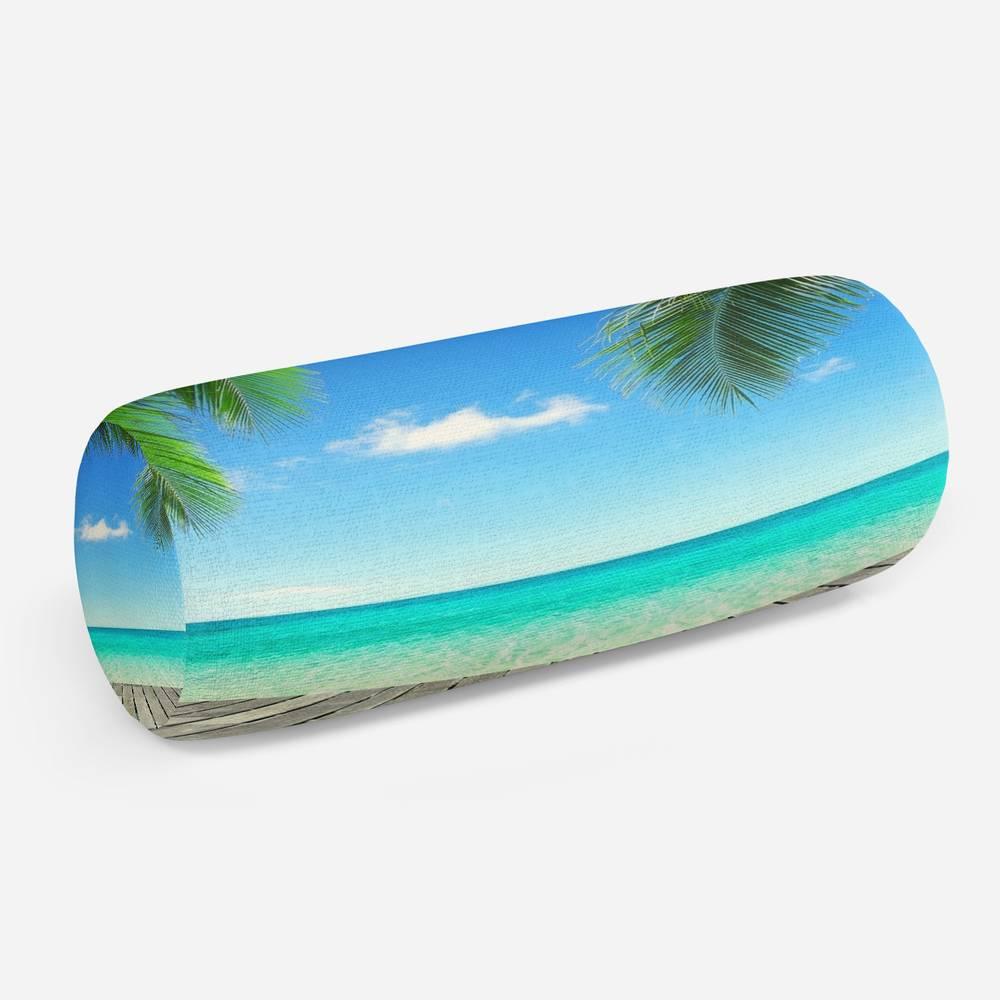 3D подушка-валик «Терраса у лазурного моря»