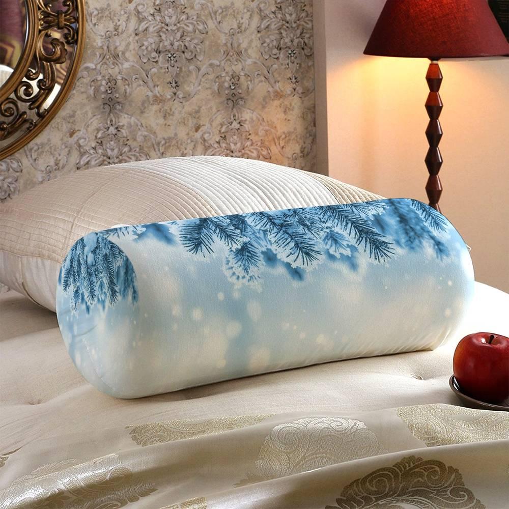 Интерьерная вытянутая подушка «Ветка ели в снегу» вид 5